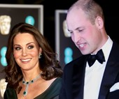 Duchess Kate and her baby bump dazzle in emerald green at BAFTAs