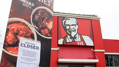 KFC runs out of chicken in the UK