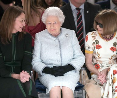 Queen makes a surprise appearance on front row at London Fashion Week
