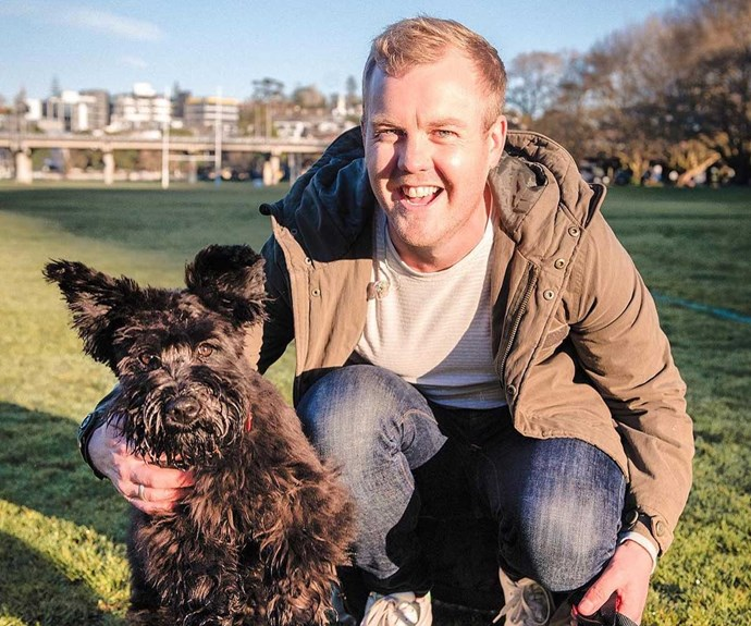 Matty McLean with his dog Otis