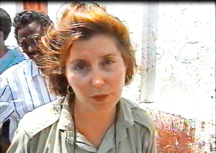 Trisha during her time as a war correspondent