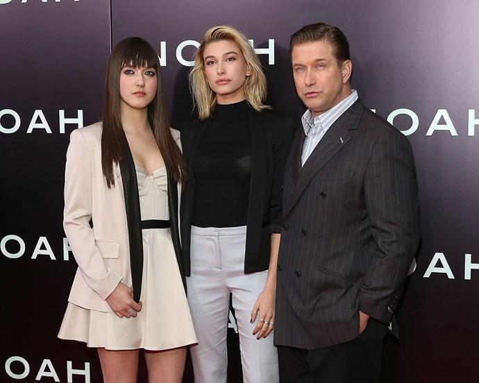 **Hailey Baldwin** (middle) with father Stephen Baldwin and sister Alia Baldwin.