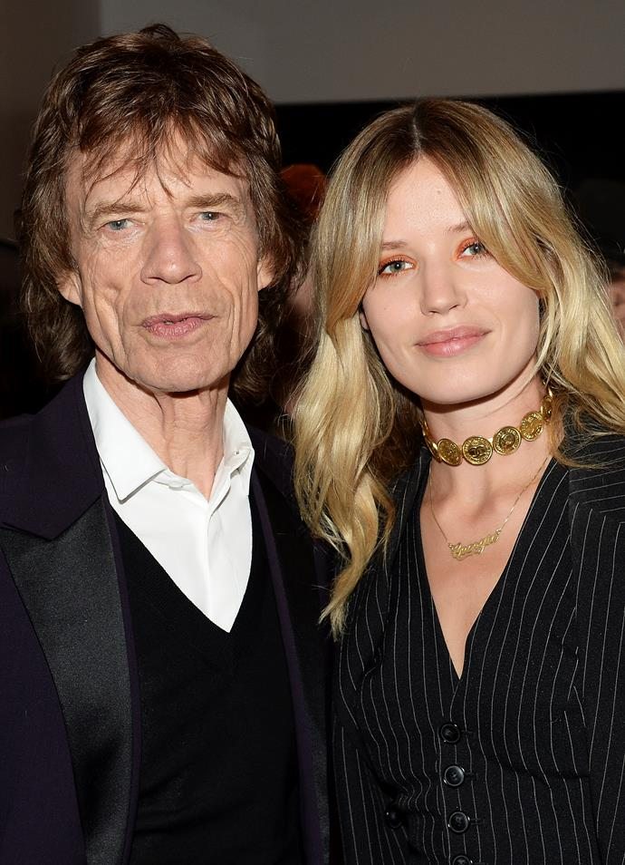 **Georgia May Jagger** and her father Mick Jagger.