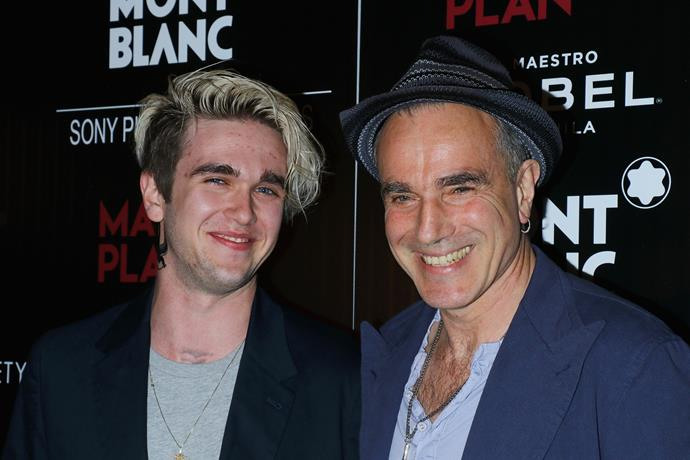 **Gabriel-Kane Day-Lewis** with father Daniel Day-Lewis. How much does he look like his famous dad!