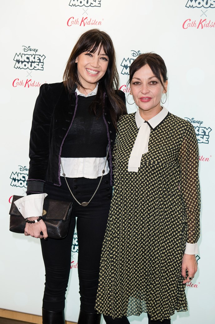 **Daisy Lowe** with mother Pearl Lowe.
