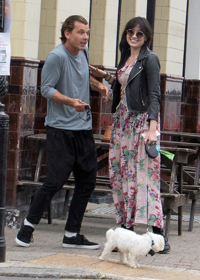 **Daisy Lowe** with he father Gavin Rossdale.