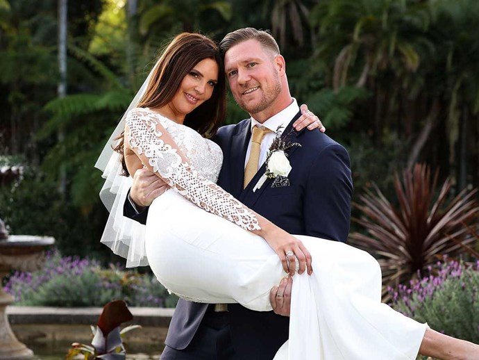 Tracey and Dean on their wedding day