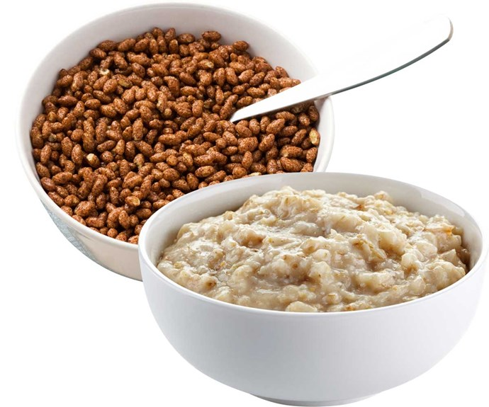 **Swap sweet cereals for porridge**                                                                                                                                                                                        Forget about sugary cereals – kickstart your day with plain cereals or porridge.