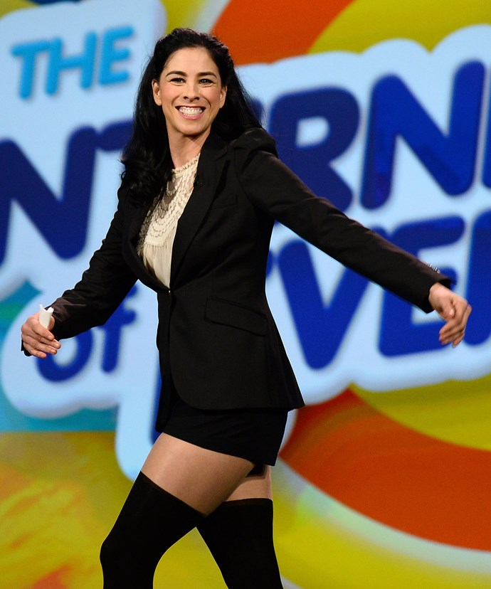 """**Sarah Silverman**  """"We need to stop telling girls they can be anything they want when they grow up.  Because it would have never occurred to them that they couldn't."""""""