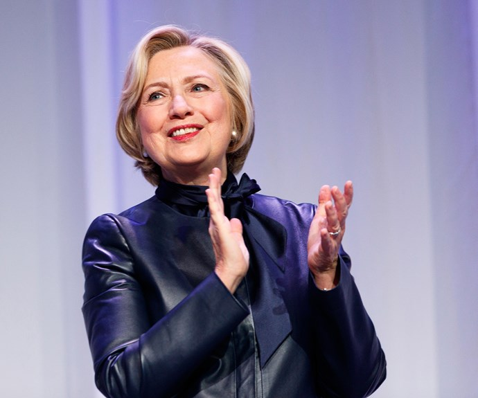 """**Hillary Clinton**  """"Human rights are women's rights and women's rights are human rights. Let us not forget that among those rights are the right to speak freely – and the right to be heard."""""""