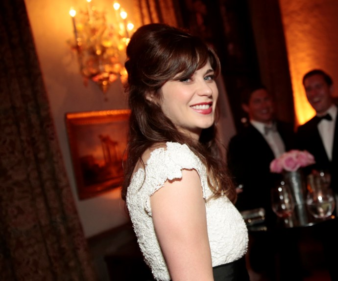 """**Zooey Deschanel**  """"I'm a feminist because I'm a woman, and I think that if you're a strong woman who wants to succeed, you have to be a feminist."""""""