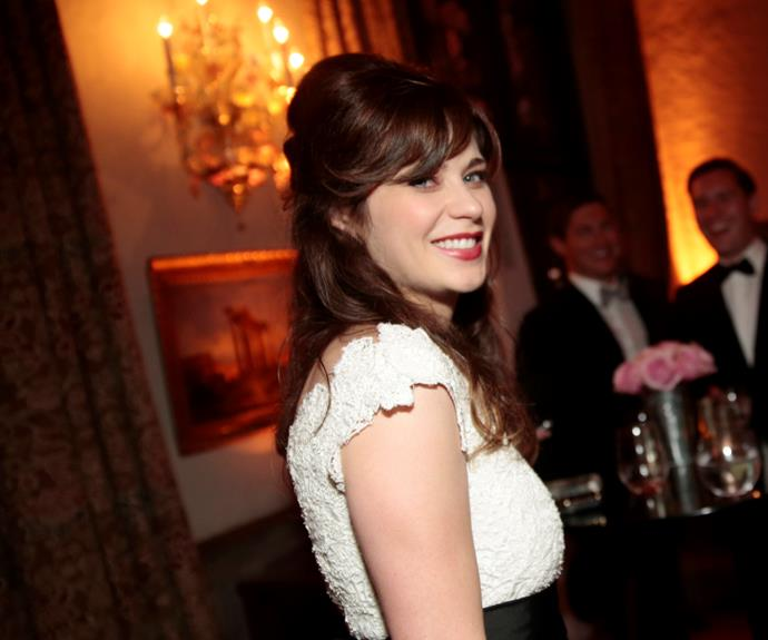 "**Zooey Deschanel**  ""I'm a feminist because I'm a woman, and I think that if you're a strong woman who wants to succeed, you have to be a feminist."""