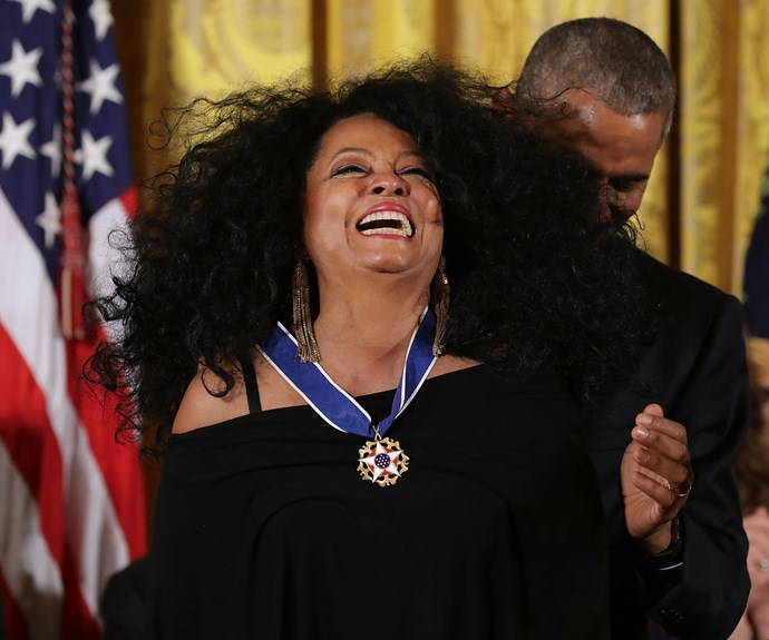 """**Diana Ross**  """"Instead of looking at the past, I put myself ahead twenty years and try to look at what I need to do now in order to get there then."""""""