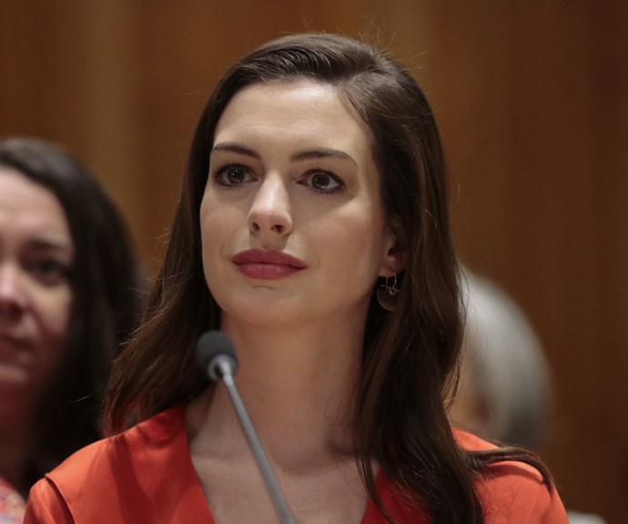 """**Anne Hathaway**  """"A man told me that for a woman, I was very opinionated. I said, 'for a man you're kind of ignorant'."""""""