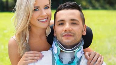 Paralysed kickboxer Ra Redden is fighting back thanks to the love of his life