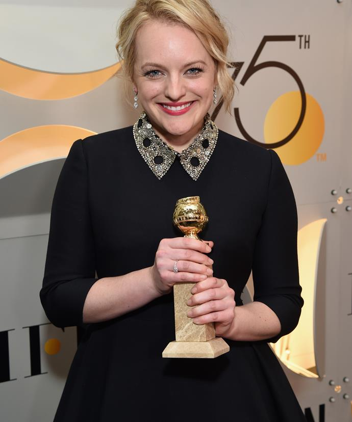 "**Elisabeth Moss**  *Who dedicated her award at the 75th annual Golden Globe Awards to Margaret Atwood, author of The Handmaid's Tale.*  ""Margaret Atwood, this is for you, and all of the women who came before you and after you who were brave enough to speak out against intolerance and injustice."""