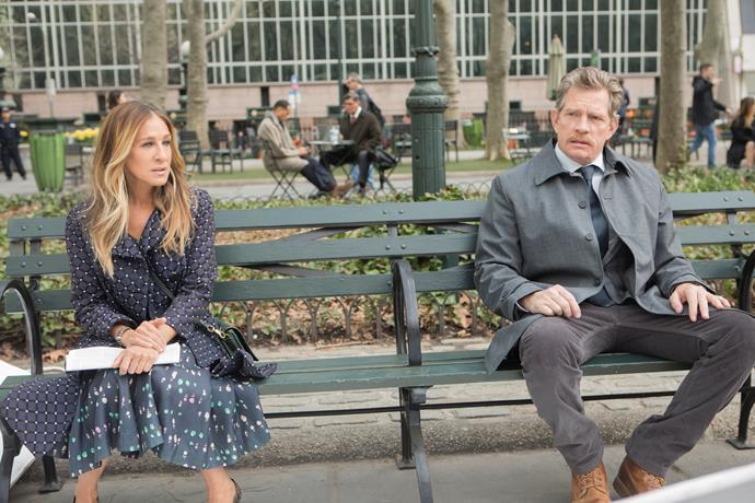 Sarah Jessica Parker and Thomas Haden Church in *Divorce*.