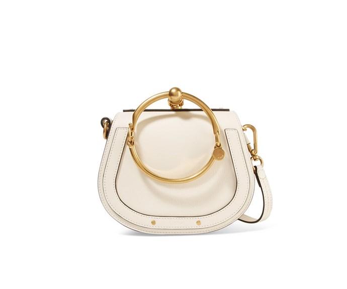 [Chloe bag, US$1630, from Net-A-Porter.](https://www.net-a-porter.com/nz/en/product/975546/chloe/nile-bracelet-small-leather-and-suede-shoulder-bag)
