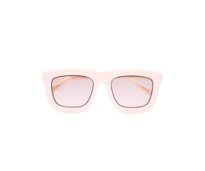 [Glasses, $349, by Karen Walker.](https://www.karenwalker.com/eyewear/all-eyewear/deep-worship-ecru-sgkas1701419/ecru)