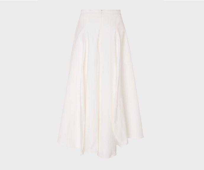 [Maggie Marilyn skirt, $500, from The Shelter.](https://www.theshelteronline.com/tulip-skirt-white.html)