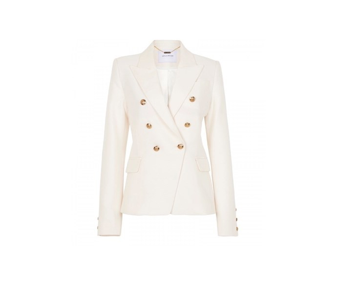 [Camilla and Marc blazer, $842, from Sisters and Co.](https://sistersandco.co.nz/collections/camilla-marc/products/cammdimmerblazer-wht)