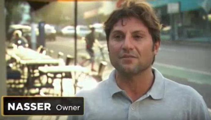 Nasser in a clip from the Pawn Stars episode.