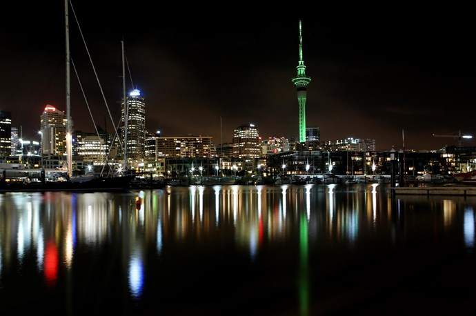 **NZ began the Global Greening**  More than 300 landmarks around the world light up green on St Patrick's Day, from the Empire State Building in New York to the Sydney Opera House. The greening began 10 years ago in Auckland with the lighting up of the Sky Tower. This year Eden Park, Auckland Museum, the Sky Tower and Auckland Harbour Bridge will glow green as well as Christchurch Airport and the Michael Fowler Centre in Wellington.