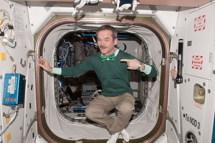 **St Patrick's Day is celebrated in space**  Since 2011, astronauts on board the International Space Station have marked Ireland's national day while floating in space, wearing green, playing traditional Irish music instruments and singing Irish songs.