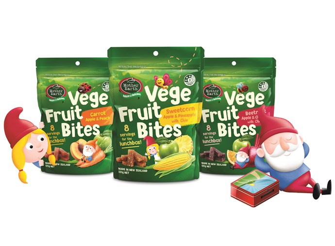 Be among the first to try new Vege Fruit Bites from Mother Earth