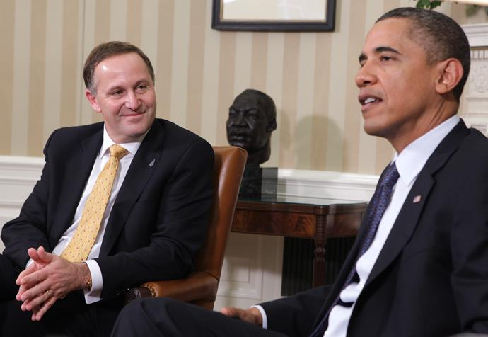 When they both looked a lot younger! Barack Obama meets with then Prime Minister John Key  in the Oval Office of the White House July, 2011.