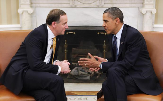 Having the chats! Obama and Key at the White House in 2011.