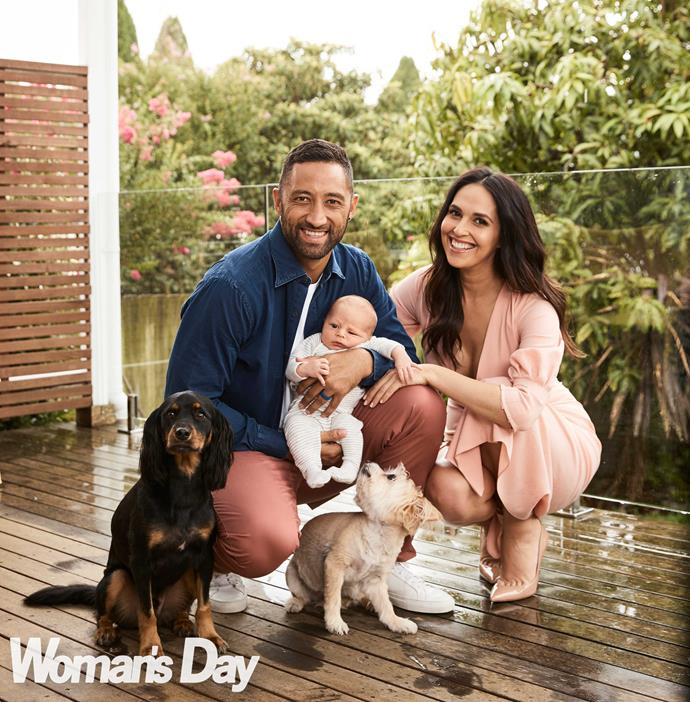 Benji and Zoe, with baby Fox and pups Lucky and Mila, are already planning to expand their happy family.