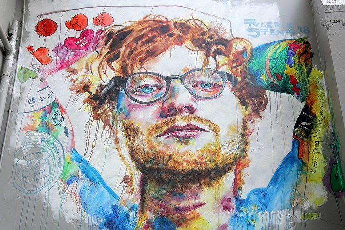 The new mural, in all its glory. Large, but still not as large as the love for Ed in the hearts of New Zealanders.