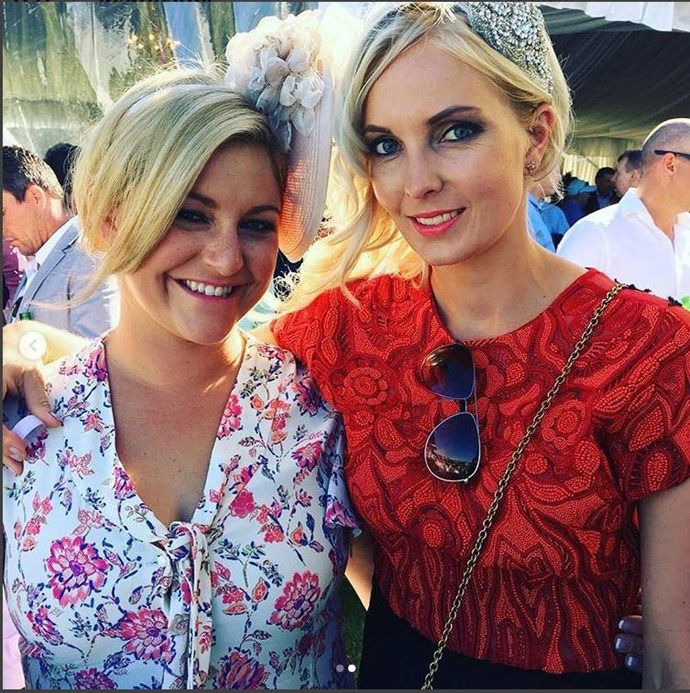 Toni with her childhood friend Sophie Braggins who is going to be surrogate for her and husband Matt.