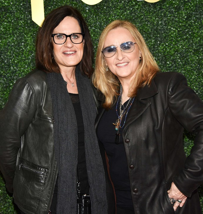 Melissa and wife Linda at a pre-Grammy's party last year.