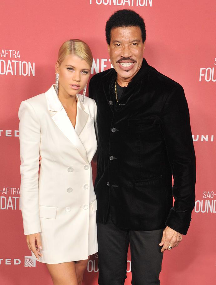 Daddy cool: Lionel with Sofia at an awards show in November.