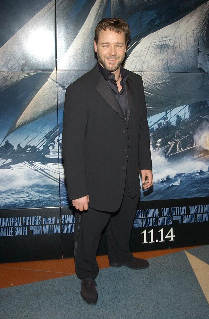 Russell Crowe at the screening for Master and Commander: Far Side of the World in New York.