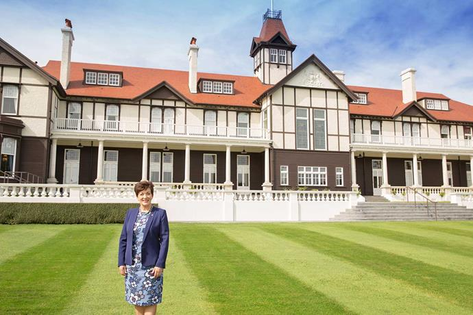 Pictured on the grounds of Government House in Wellington, Patsy splits her time between the capital city and Auckland, but hopes to visit every corner of New Zealand during her tenure.