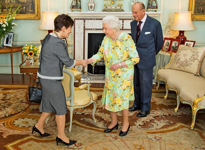 Devoted royalist Patsy enjoyed an audience with the Queen and Prince Charles in London in July 2016.