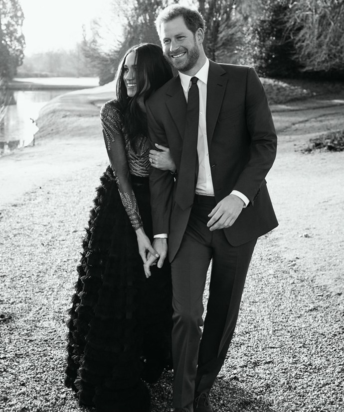 One of the gorgeous images from Prince Harry and Meghan Markle's official engagement photo shoot.