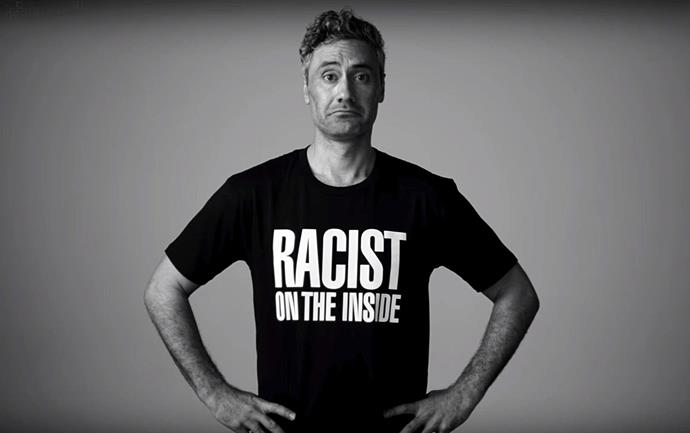 Waititi starred in a satirical 'pro racism' campaign for the Human Rights Commission in 2017.