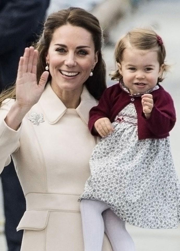Princess Charlotte attempts a cute royal wave