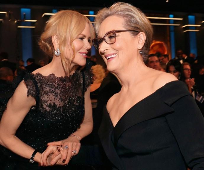 Nicole with her heroine, Meryl Streep