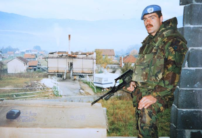 Doug in Bosnia, 1993