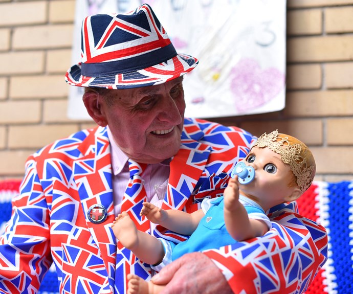 Royal superfans gather outside the Lindo Wing in anticipation of the arrival of the royal baby
