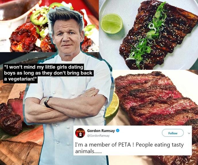 Celebrity chef Gordon Ramsay goes vegan