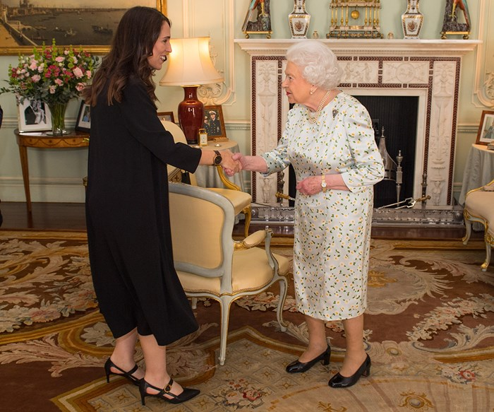 Jacinda Ardern praises the Queen as 'remarkable leader' after visit to Buckingham Palace