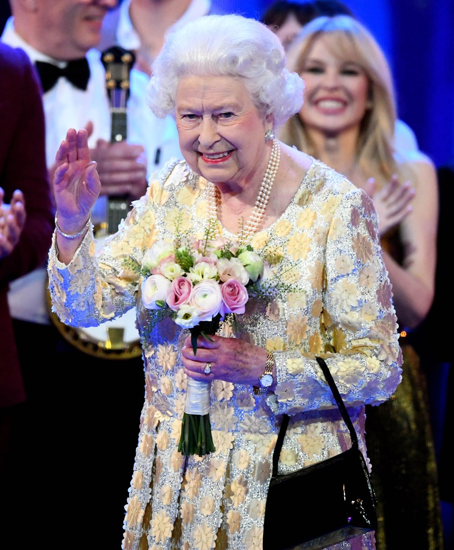 Queen Elizabeth at her birthday concert last year. *(Image: Getty)*