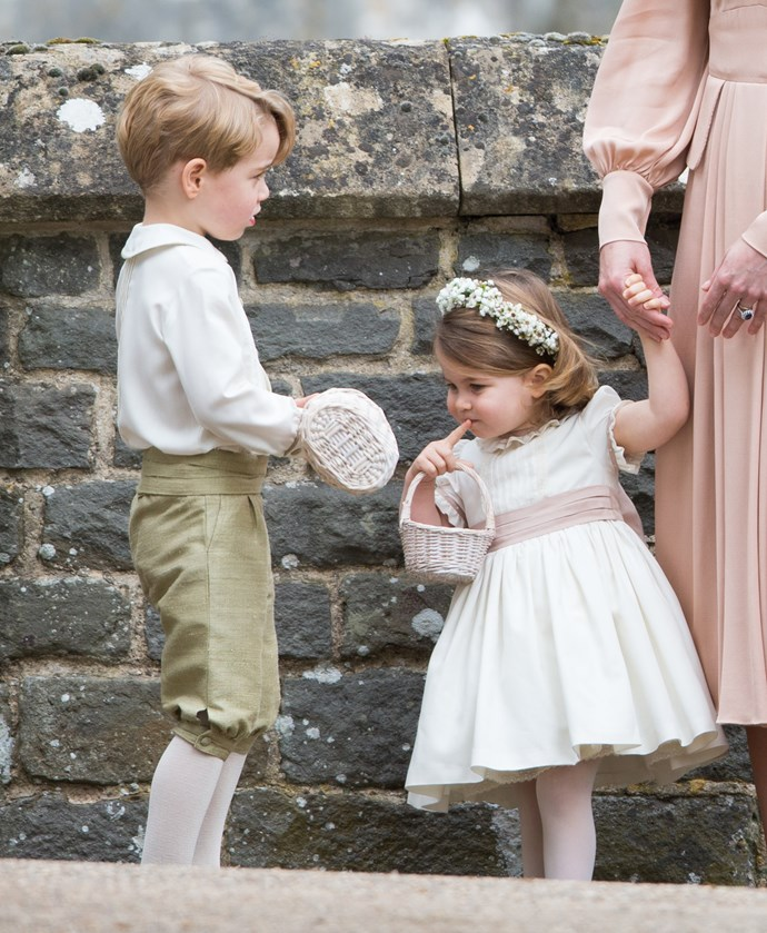 Prince George and Princess Charlotte were part of the wedding party at Pippa and James' May 2017 wedding.