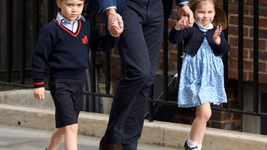 The adorable moment between George and Charlotte that we almost missed